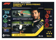 2020 Topps Formule 1 Turbo Attax 88 Live Action Daniel Riccardo Renault