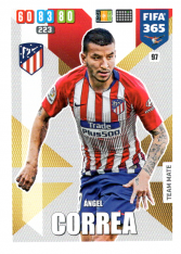 Fotbalová kartička Panini Adrenalyn XL FIFA 365 - 2020 Team Mate 97 Angel Correa  Atletico de Madrid