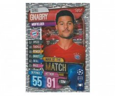 Fotbalová kartička 2019-2020  Topps Champions League Match Attax -  Man of the Match Serge Gnabry FC Bayern Munchen