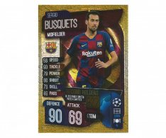 Fotbalová kartička 2019-2020 Topps Match Attax Champions League Segio Busquets Record holders RH 4