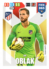 Fotbalová kartička Panini Adrenalyn XL FIFA 365 - 2020 Team Mate 88 Jan Oblak Atletico de Madrid