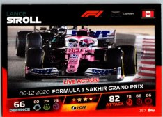2021 Topps Formule 1 Turbo Attax Live Action 157 Lance Stroll Aston Martin