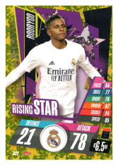 fotbalová kartička Topps Match Attax Champions League 2020-21 Rising Star RS2 Rodrygo - Real Madrid CF