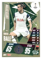 fotbalová kartička Topps Match Attax Champions League Match Attax Limited Edition Update LEH01 Gareth Bale Tottenham Hotspur