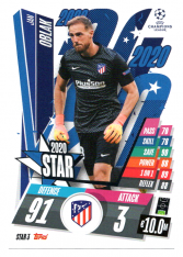fotbalová kartička 2020-21 Topps Match Attax Champions League STAR3 Jan Oblak Atlético de Madrid