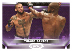 2020 Topps UFC Knockout 65 Thiago Santos - Middleweight /25