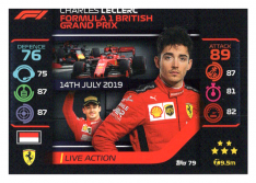 2020 Topps Formule 1 Turbo Attax 79 Live Action Charles Leclerc Scuderia Ferrari