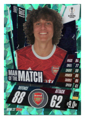 fotbalová kartička 2020-21 Topps Match Attax Champions League  MTM12 David Luiz Arsenal FC Update
