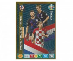 Panini Adrenalyn XL UEFA EURO 2020 Multiple Midfield Engine 439 Modric Brozovic Rakitic Croatia