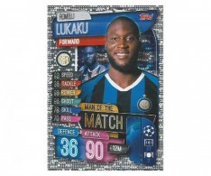 Fotbalová kartička 2019-2020 Topps Match Attax Champions League Man of the Match Romelu Lukaku