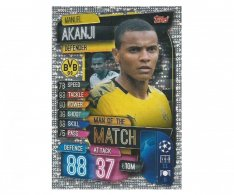 Fotbalová kartička 2019-2020  Topps Champions League Match Attax -  Man of the Match Manuel Akanji Borussia Dortmund