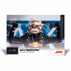 kartička Formule 1 Topps Now 2021 4 Max Verstappen First win of the season Redbull Racing