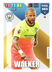Fotbalová kartička Panini Adrenalyn XL FIFA 365 - 2020 Team Mate 55 Kyle Walker Manchester City