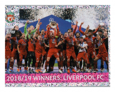 2019-20 Topps Champions League samolepka 3 Winners FC Liverpool