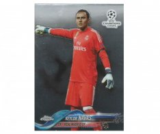 Fotbalová kartička Topps Chrome 2017-18 Champions League 61 Keylor Navas – Real Madrid CF