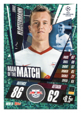 fotbalová kartička 2020-21 Topps Match Attax Champions League Extra Man of the Match MOTM18 Lukas Klostermann RB Leipzig