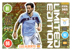 Panini Adrenalyn XL FIFA 365 2021 Limited Edition Luis Alberto Lazio
