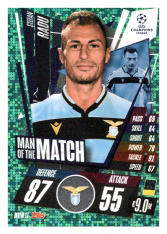fotbalová kartička 2020-21 Topps Match Attax Champions League Extra Man of the Match MOTM13 Stefan Radu SS Lazio