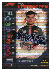 2020 Topps Formule 1 Turbo Attax 158 Race Superstar Max Verstappen Aston Martin Red Bull