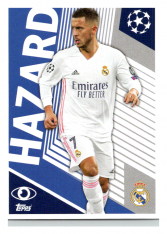 2020-21 Topps Champions League samolepka RMA2 Eden Hazard Real Madrid CF
