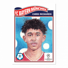 Fotbalová kartička Topps Living Set 276 Chris Richards FC Bayern Munchen