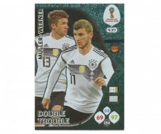 Fotbalová kartička Panini Adrenalynl XL World Cup Russia 2018 Double Trouble 439 Muller – Werner