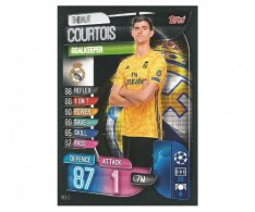 Fotbalová kartička 2019-2020  Topps Champions League Match Attax - Real Madrid CF - Thibaut Courtois 2