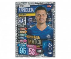 Fotbalová kartička 2019-2020  Topps Champions League Match Attax -  Man of the Match Cesar Azpilicueta Chelsea FC