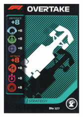 2020 Topps Formule 1 Turbo Attax 127 Strategy card Overtake