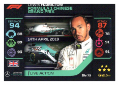 2020 Topps Formule 1 Turbo Attax 73 Live Action Lewis Hamilton Mercedes AMG