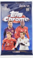 2018-19 Topps Chrome Champions League Hobby Balíček