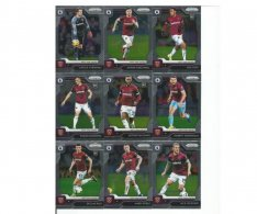 2019-20 Panini Prizm Premier League Týmový set West Ham United 15 karet