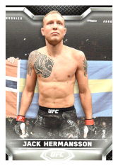 2020 Topps UFC Knockout 50 Jack Hermansson - Middleweight