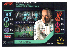 2020 Topps Formule 1 Turbo Attax 85 Live Action Lewis Hamilton Mercedes AMG