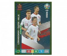 Panini Adrenalyn XL UEFA EURO 2020 Multiple Attacking Trio 449 Lewandowski Piatek Milik Poland
