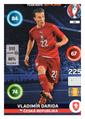 Panini Adrenalyn XL EURO 2016 Key Player 52 Vladimír Darida Česká Republika
