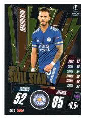 fotbalová kartička 2020-21 Topps Match Attax Champions League Extra Super Skill Star SKI6 James Maddison Leicester City