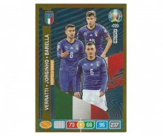 Panini Adrenalyn XL UEFA EURO 2020 Multiple Midfield Engine 444 Verratti Jorginho Barella Italy