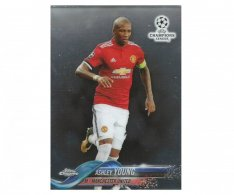 Fotbalová kartička Topps Chrome 2017-18 Champions League 17 Ashley Young – Manchester United
