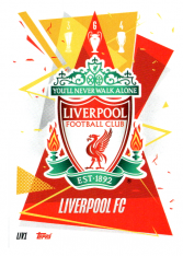 fotbalová kartička Topps Match Attax Champions League 2020-21 LIV1 Team Logo Liverpool FC