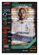 2020 Topps Formule 1 Turbo Attax 154 Race Superstar Lewis Hamilton Mercedes AMG