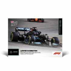 kartička Formule 1 Topps Now 2021  1 Levis Hamilton New Record: Most laps led in the history of Formula 1 Mercedes