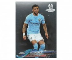 Fotbalová kartička Topps Chrome 2017-18 Champions League 3 Kyle Walker – Manchester City FC