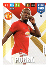 Fotbalová kartička Panini Adrenalyn XL FIFA 365 - 2020 Team Mate 75 Paul Pogba Manchester United