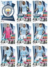 2020-21 Topps Match Attax Champions League Týmový set Manchester City