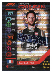 2020 Topps Formule 1 Turbo Attax 171 Race Superstar Romain Grosjean Haas