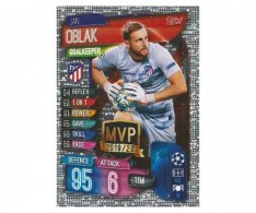 Fotbalová kartička 2019-2020  Topps Champions League Match Attax -  MVP Jan Oblak Atletico Madrid
