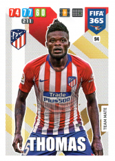 Fotbalová kartička Panini Adrenalyn XL FIFA 365 - 2020 Team Mate 94 Thomas  Atletico de Madrid