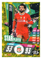 fotbalová kartička Topps Match Attax Champions League 2020-21 Star Player SP5 Mohamed Salah - Liverpool