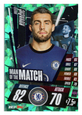 fotbalová kartička Topps Match Attax Champions League 2020-21 Man of the Match MM10 Mateo Kovačić - Chelsea FC